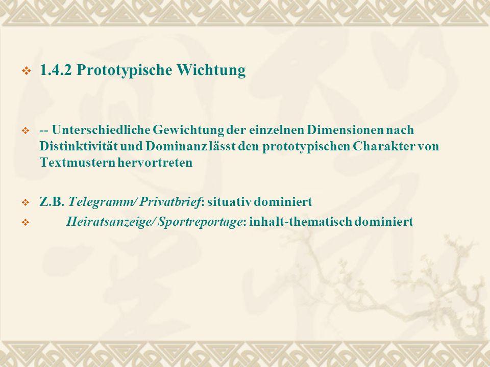 1.4.2 Prototypische Wichtung