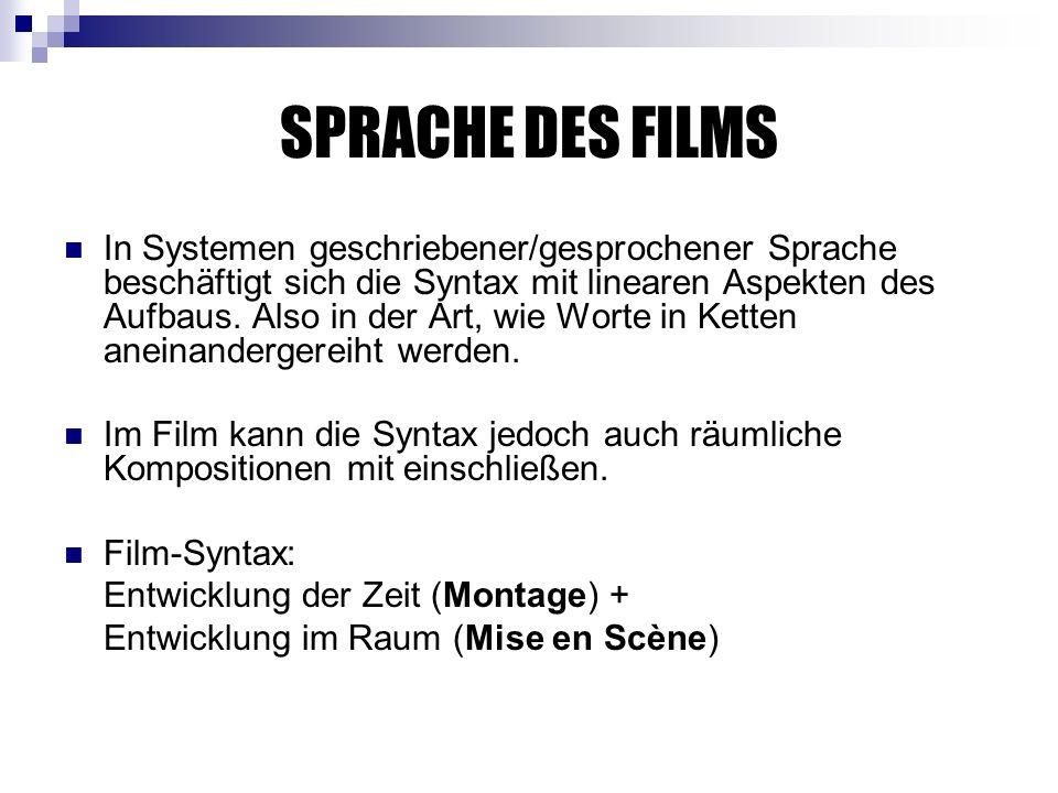 SPRACHE DES FILMS
