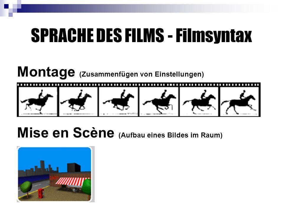 SPRACHE DES FILMS - Filmsyntax