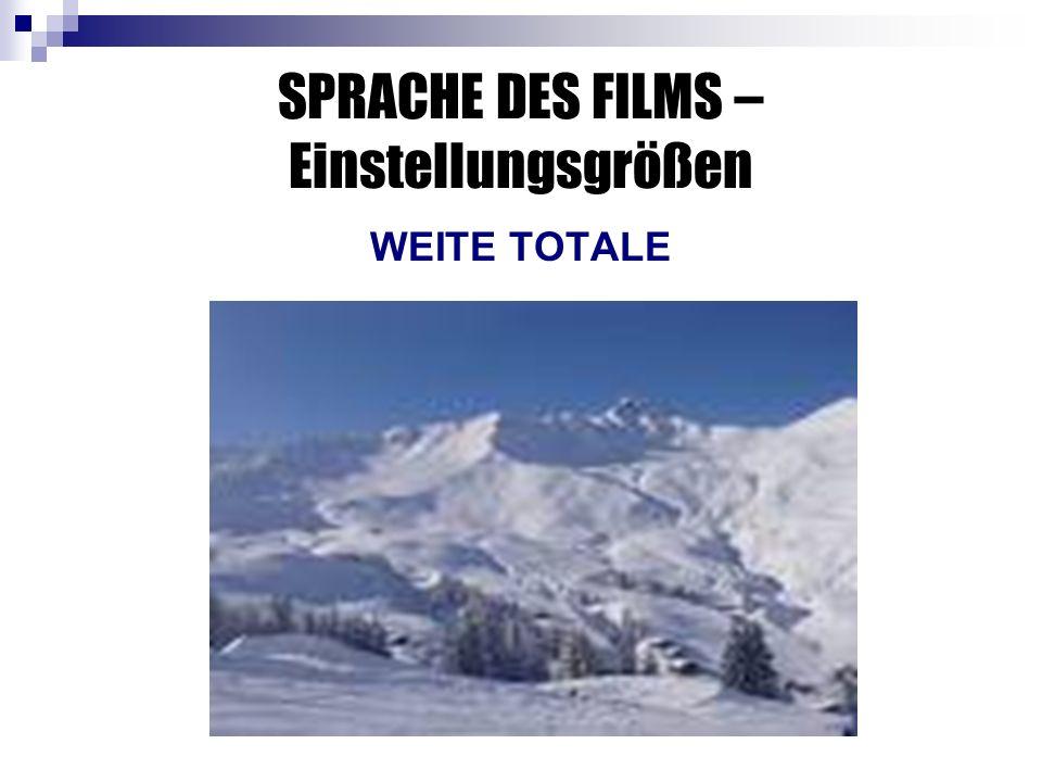 SPRACHE DES FILMS – Einstellungsgrößen