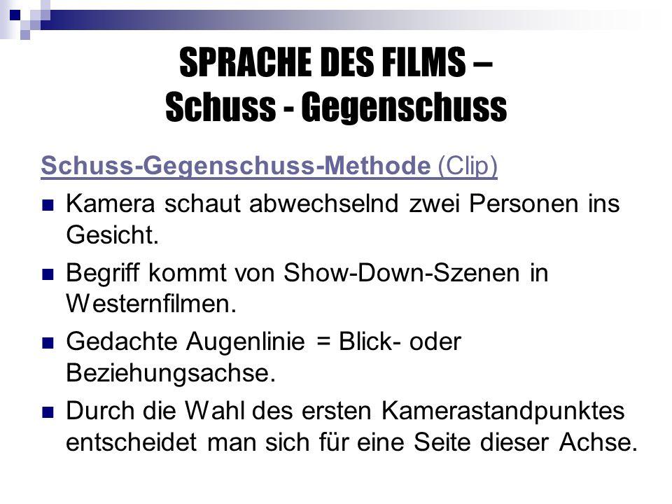 SPRACHE DES FILMS – Schuss - Gegenschuss