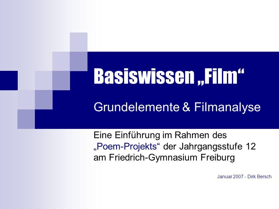 "Basiswissen ""Film Grundelemente & Filmanalyse"