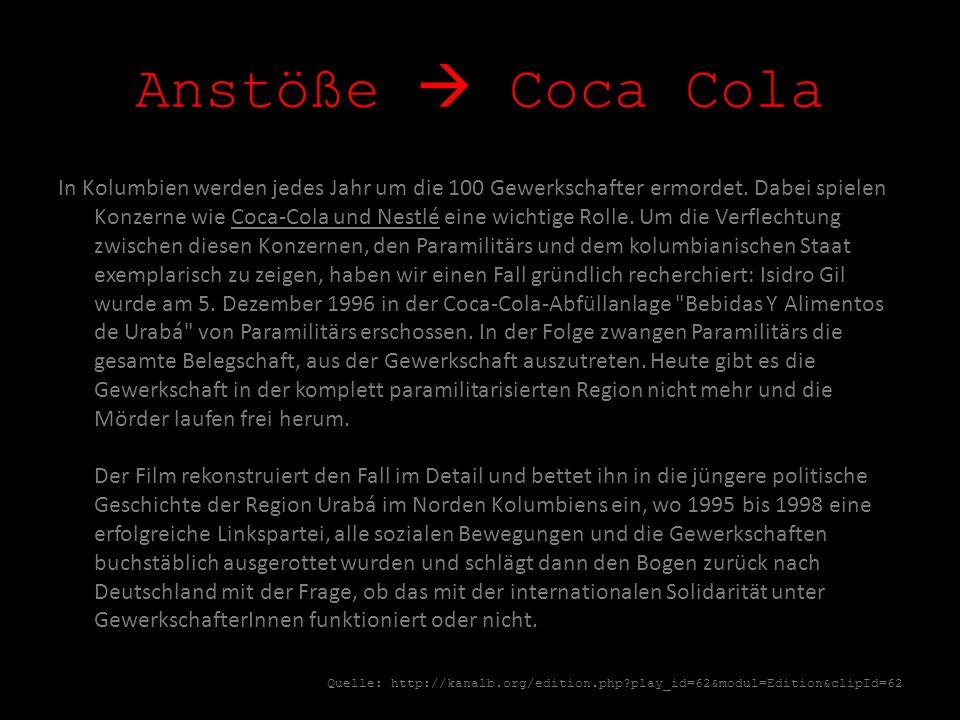 Anstöße  Coca Cola