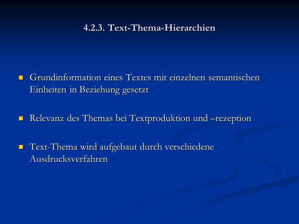 4.2.3. Text-Thema-Hierarchien