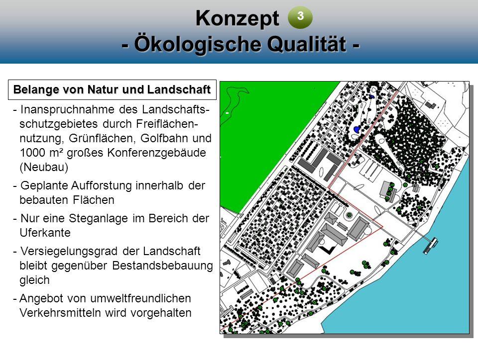 Konzept - Ökologische Qualität - Belange von Natur und Landschaft