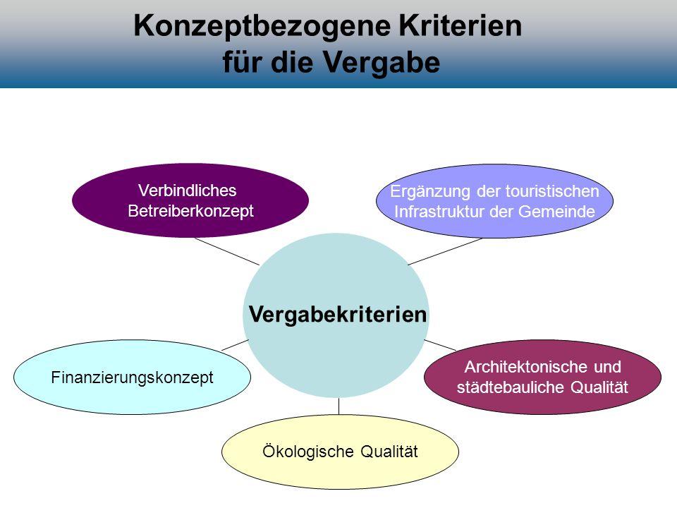 Konzeptbezogene Kriterien für die Vergabe