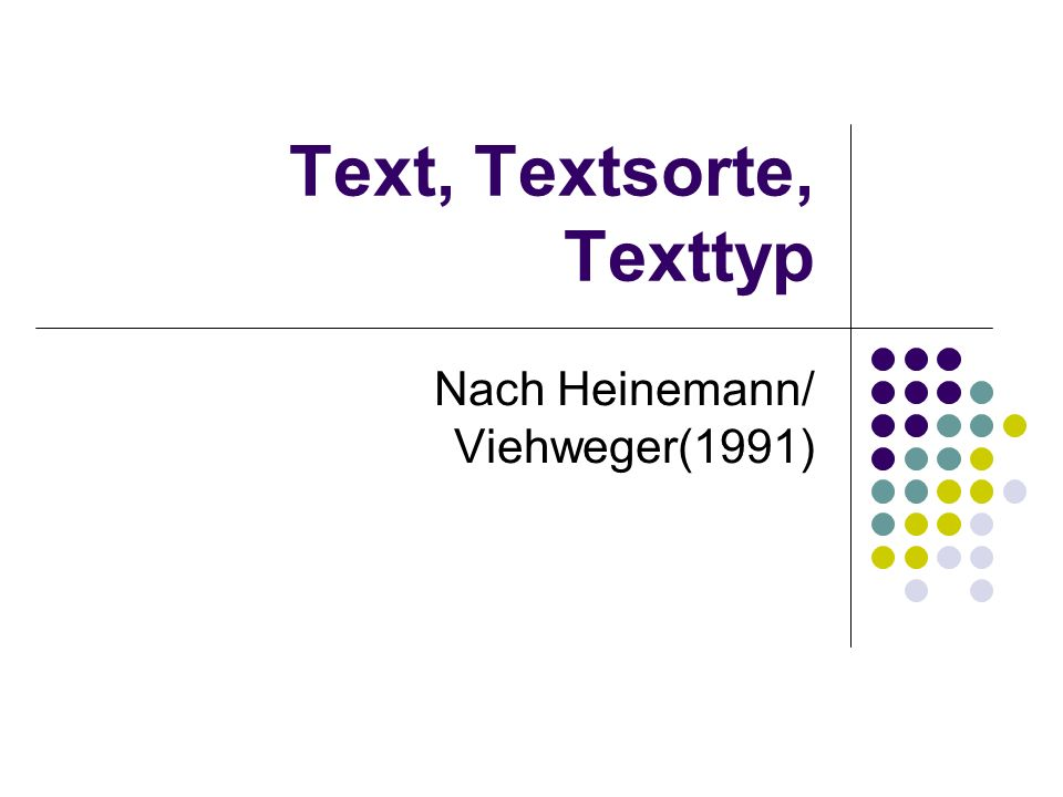 Text, Textsorte, Texttyp