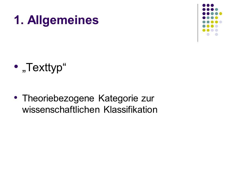 """1. Allgemeines """"Texttyp"""