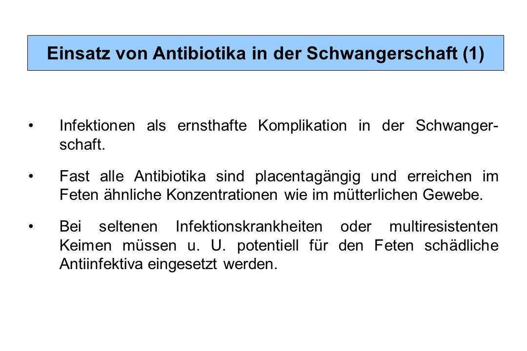 Einsatz von Antibiotika in der Schwangerschaft (1)