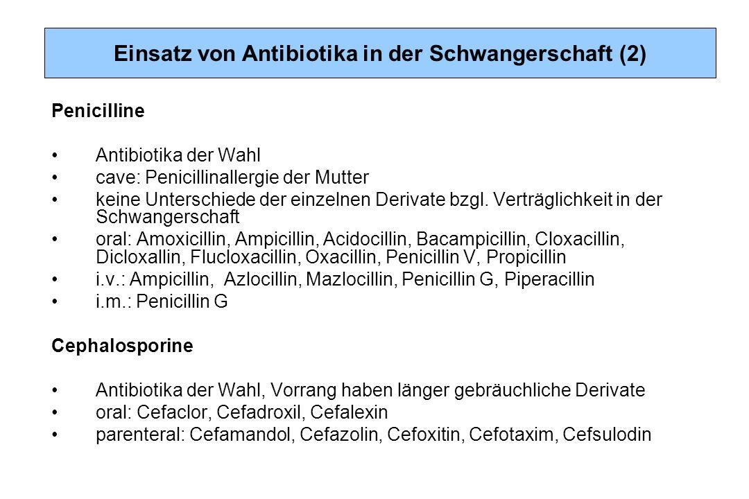 Einsatz von Antibiotika in der Schwangerschaft (2)