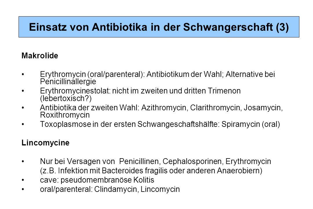 Einsatz von Antibiotika in der Schwangerschaft (3)