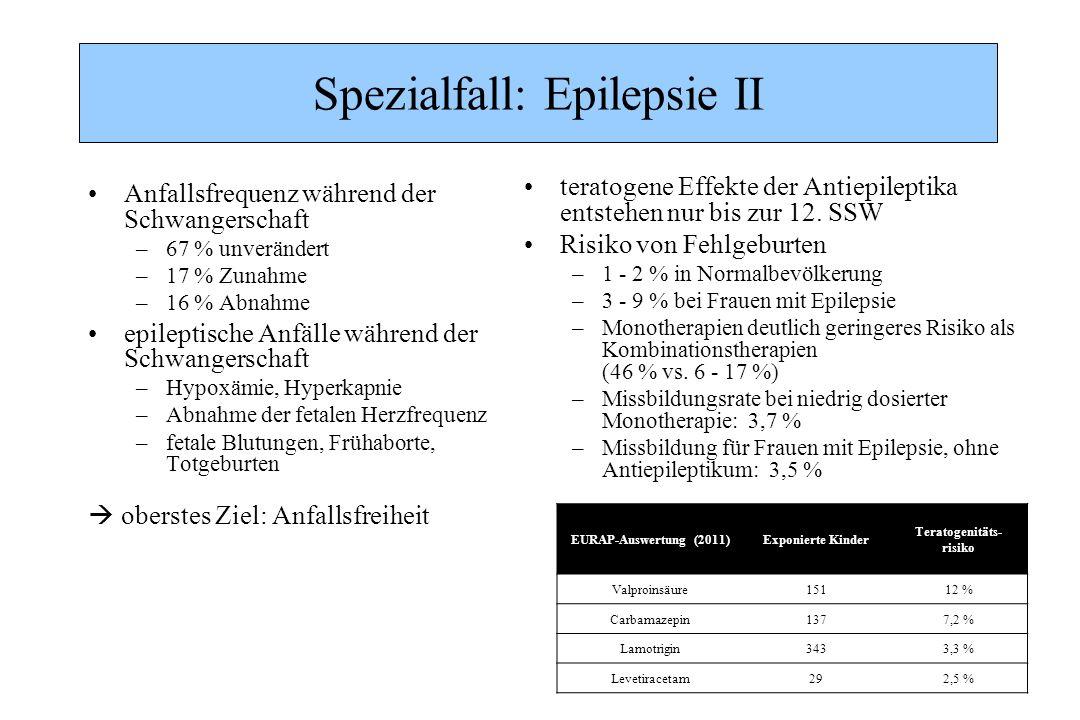 Spezialfall: Epilepsie II