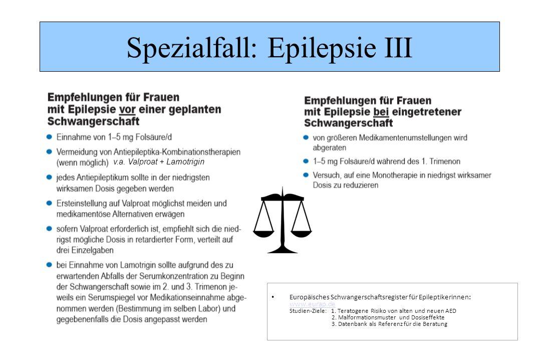 Spezialfall: Epilepsie III