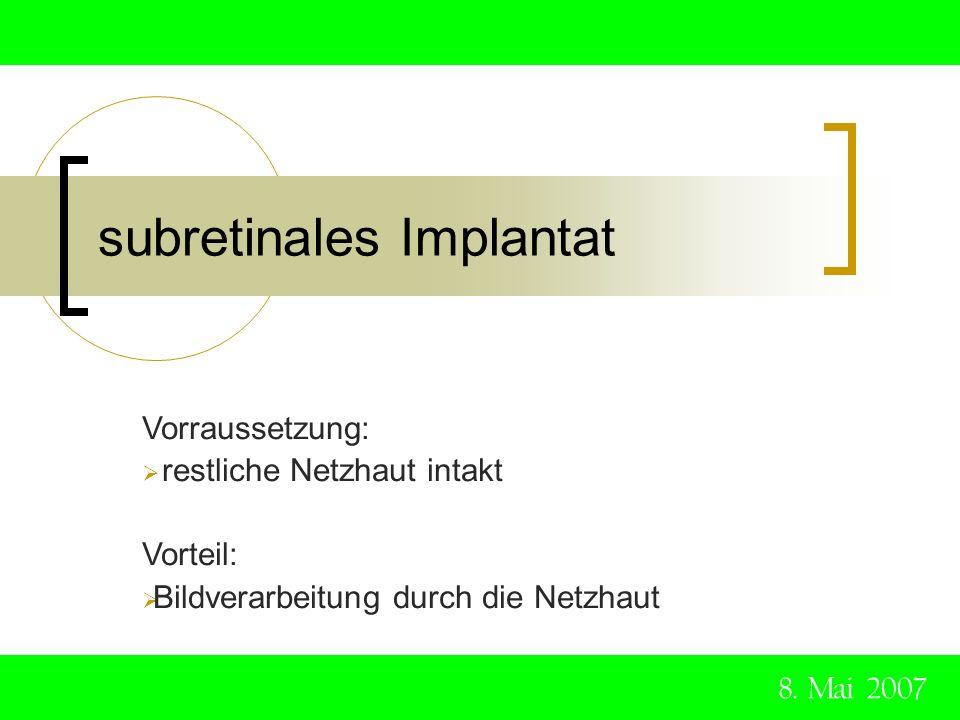 subretinales Implantat