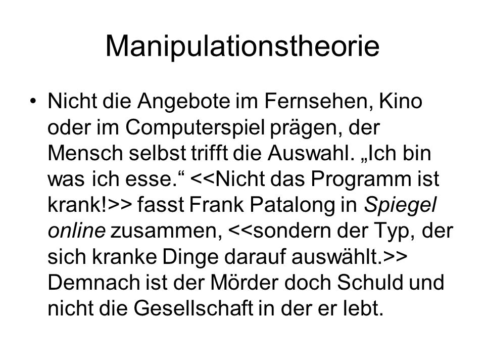 Manipulationstheorie