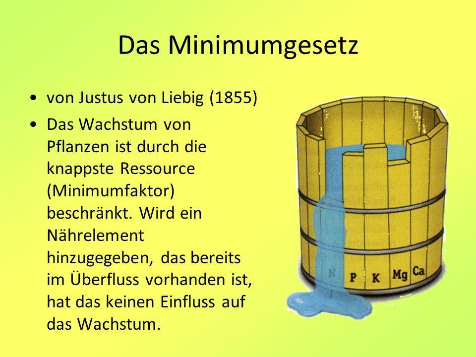 Das Minimumgesetz von Justus von Liebig (1855)