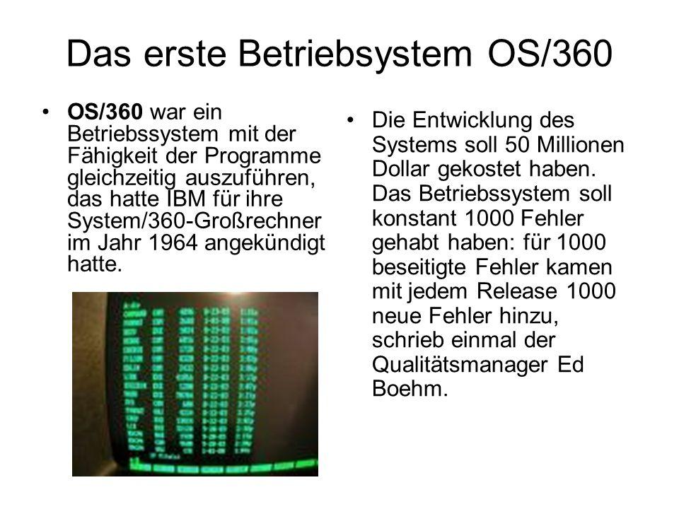 Das erste Betriebsystem OS/360