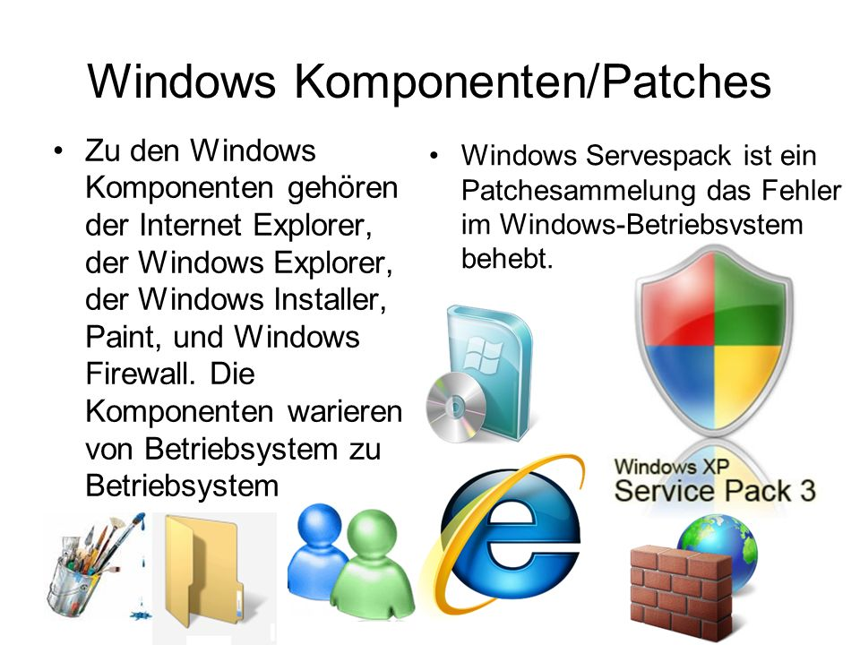 Windows Komponenten/Patches
