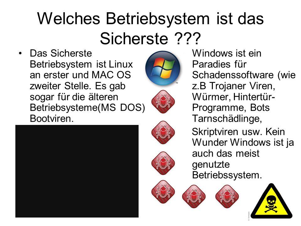 Welches Betriebsystem ist das Sicherste