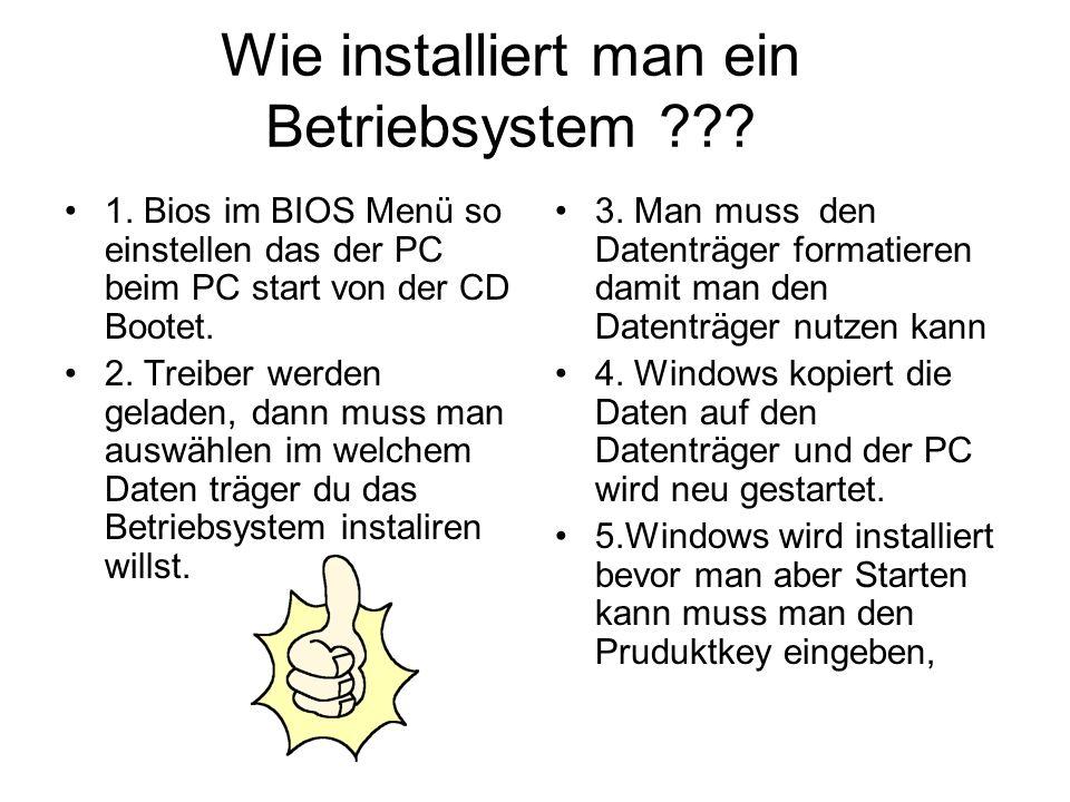 Wie installiert man ein Betriebsystem