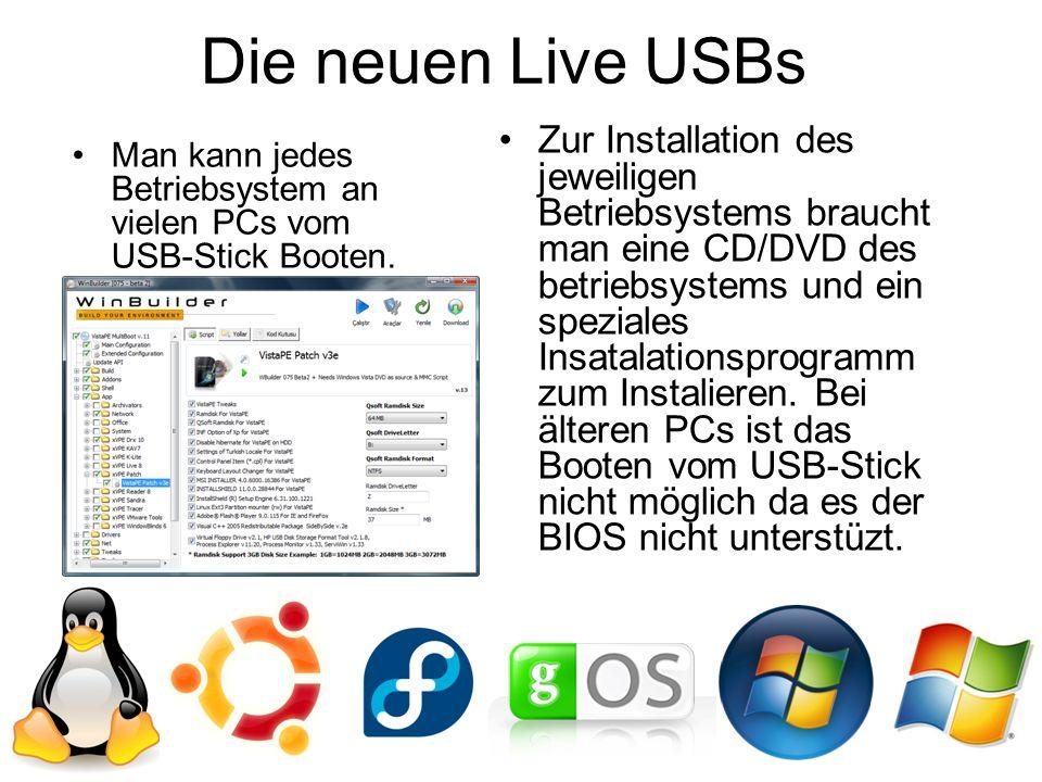 Die neuen Live USBs