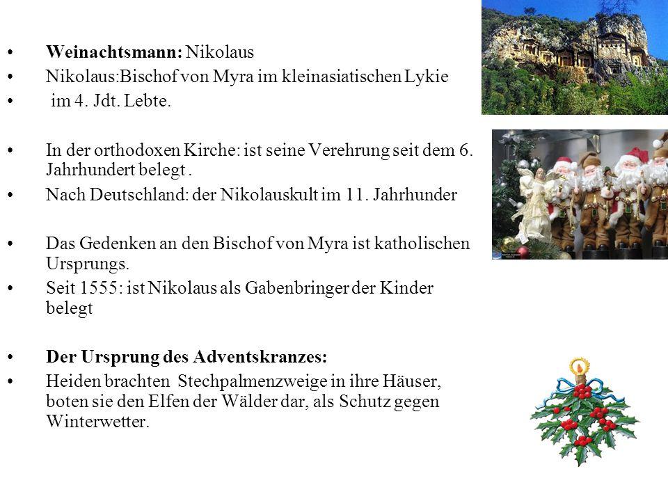 Weinachtsmann: Nikolaus