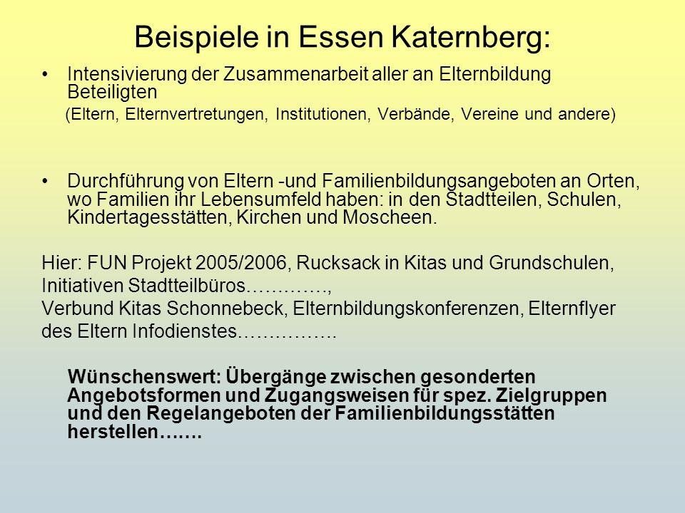 Beispiele in Essen Katernberg: