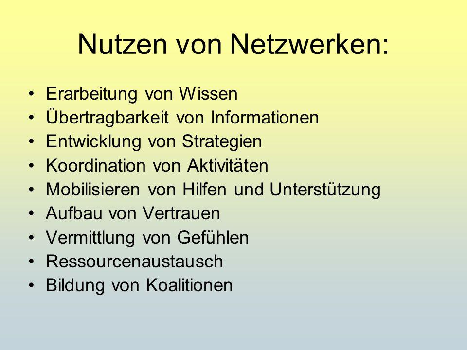 Nutzen von Netzwerken: