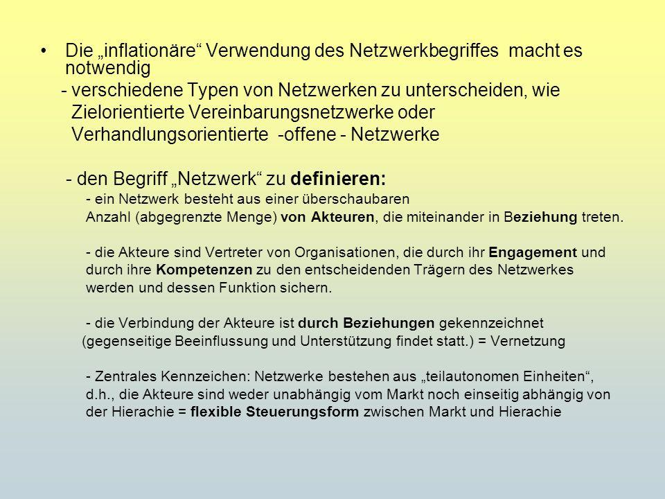 """Die """"inflationäre Verwendung des Netzwerkbegriffes macht es notwendig"""