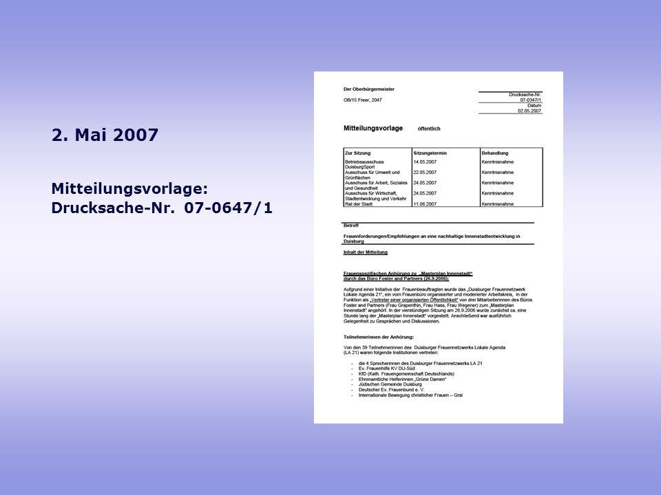 Mitteilungsvorlage: Drucksache-Nr. 07-0647/1