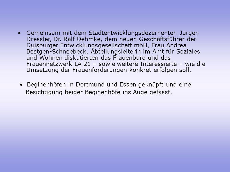 Gemeinsam mit dem Stadtentwicklungsdezernenten Jürgen Dressler, Dr