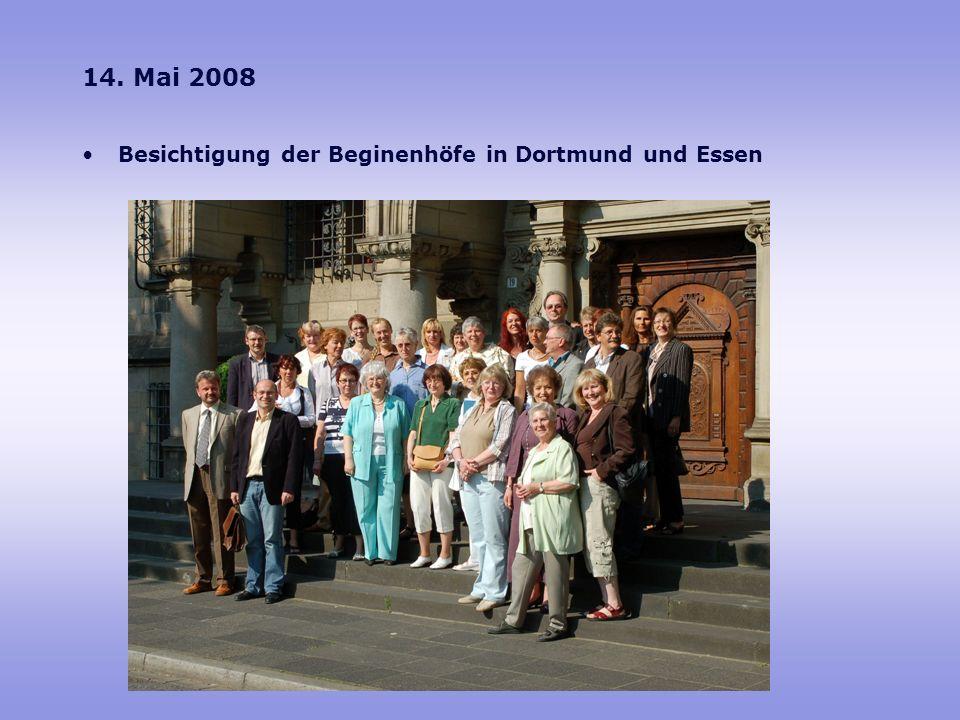 14. Mai 2008 Besichtigung der Beginenhöfe in Dortmund und Essen