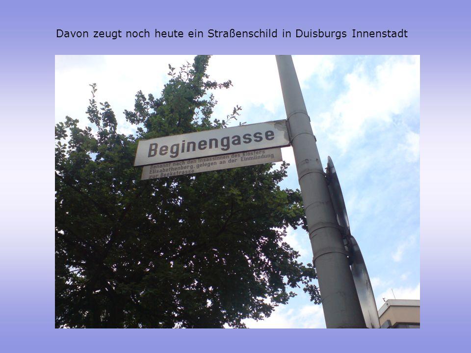 Davon zeugt noch heute ein Straßenschild in Duisburgs Innenstadt