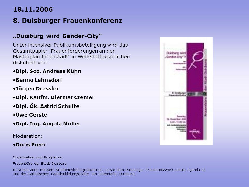 8. Duisburger Frauenkonferenz