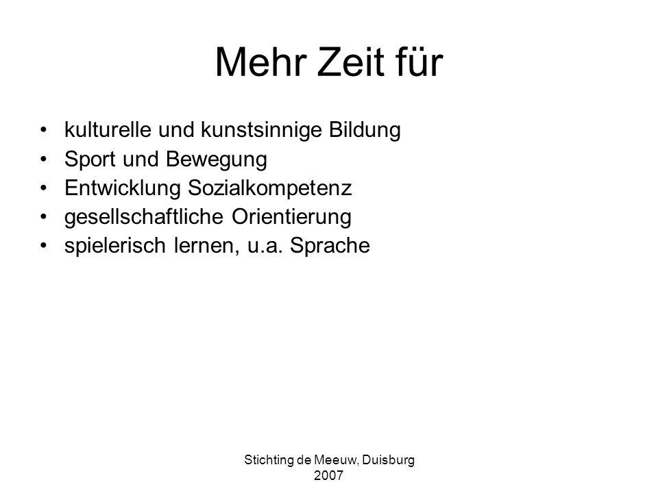 Stichting de Meeuw, Duisburg 2007