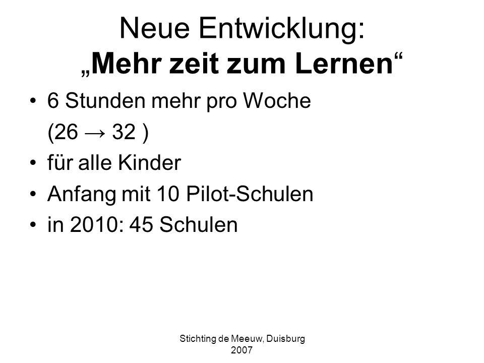 """Neue Entwicklung: """"Mehr zeit zum Lernen"""