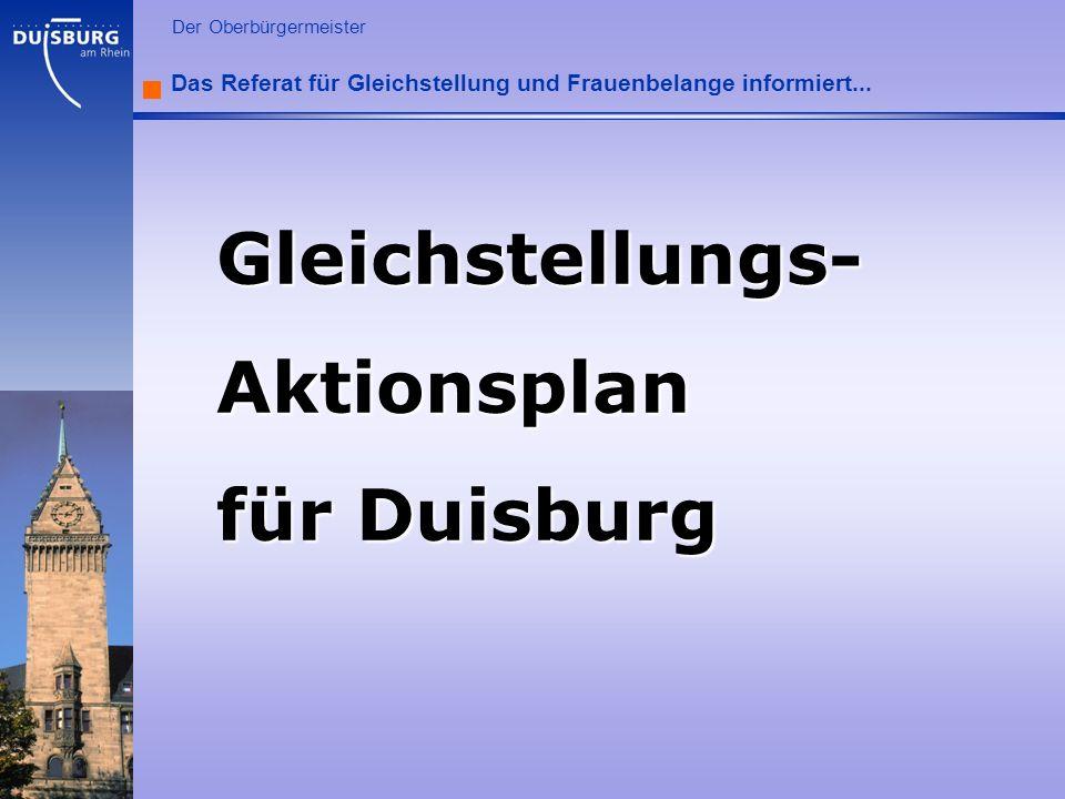 Gleichstellungs- Aktionsplan für Duisburg