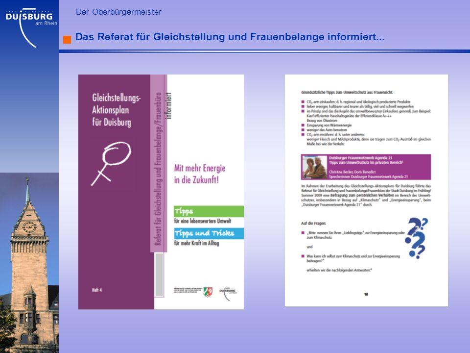 Das Referat für Gleichstellung und Frauenbelange informiert...