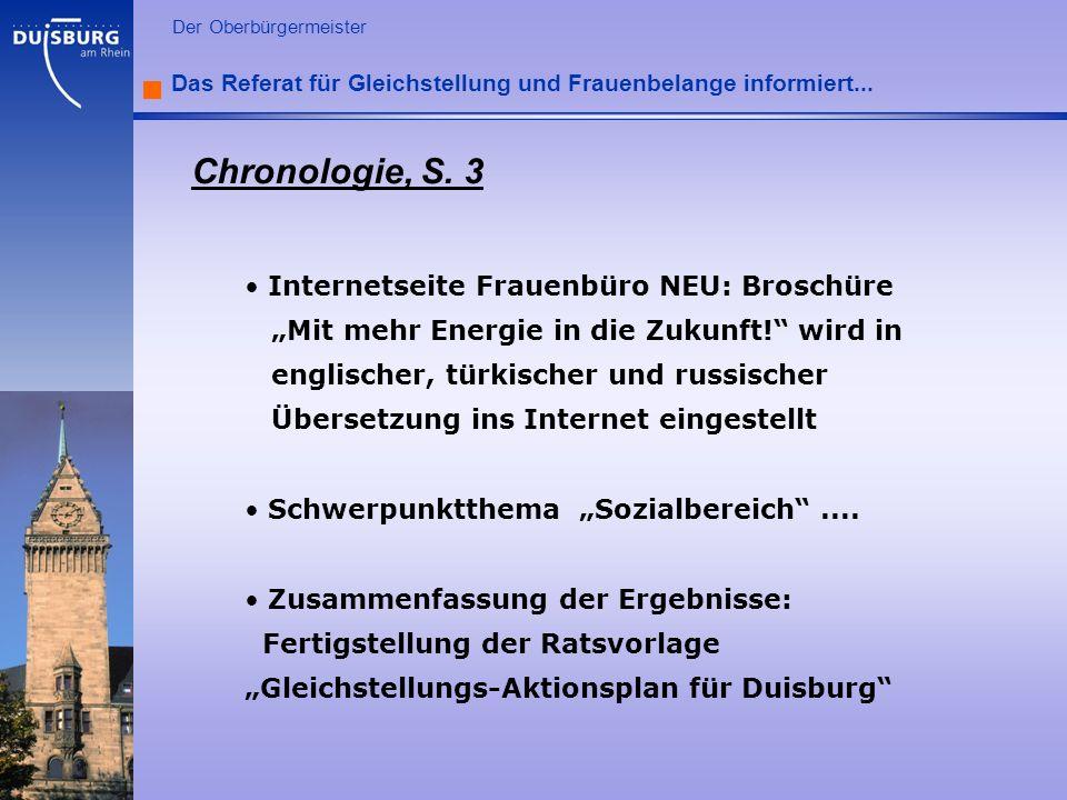 Chronologie, S. 3 Internetseite Frauenbüro NEU: Broschüre