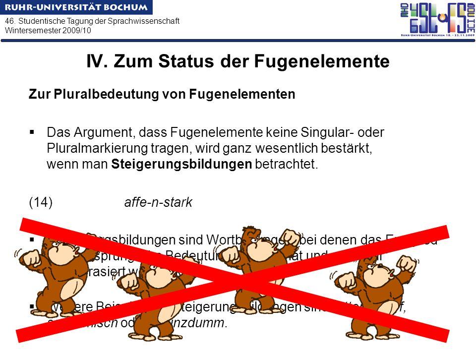 IV. Zum Status der Fugenelemente