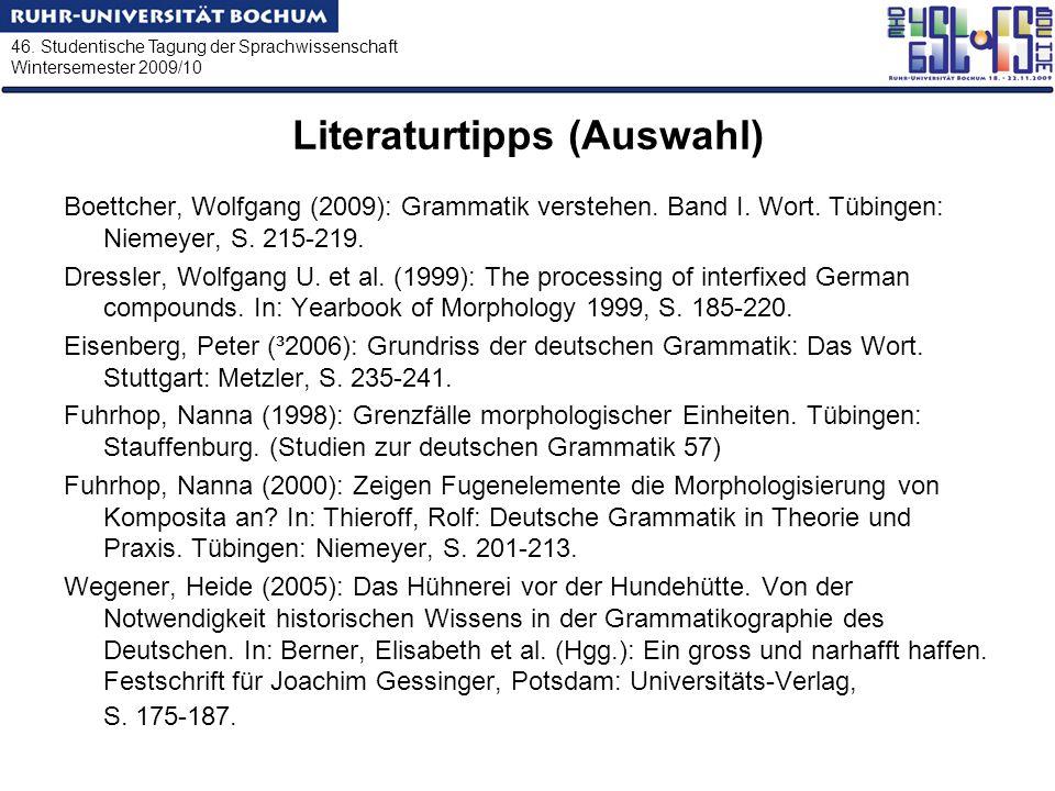 Literaturtipps (Auswahl)