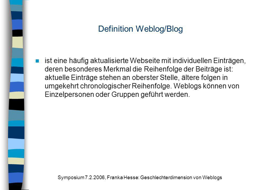 Definition Weblog/Blog