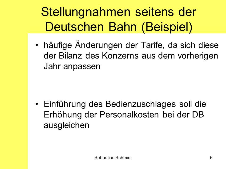 Stellungnahmen seitens der Deutschen Bahn (Beispiel)