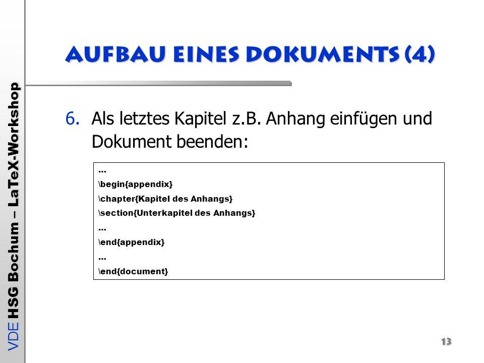 Aufbau eines Dokuments (4)