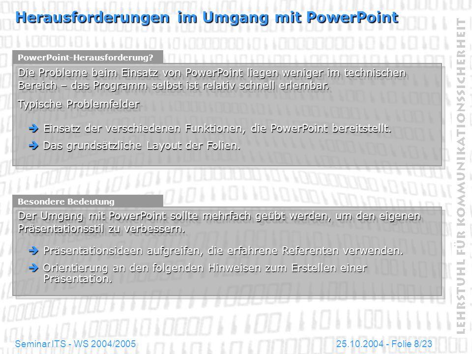 Herausforderungen im Umgang mit PowerPoint