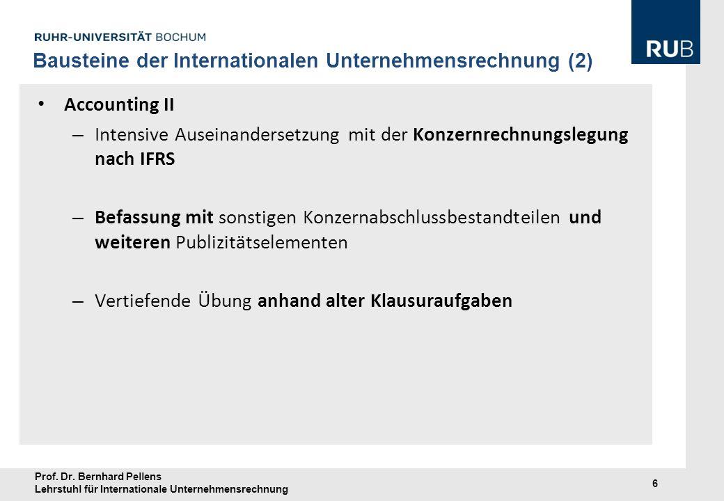 Bausteine der Internationalen Unternehmensrechnung (2)