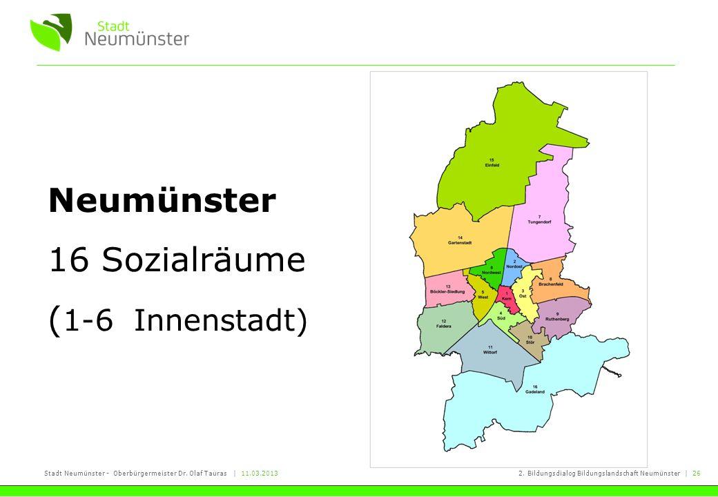 Neumünster 16 Sozialräume (1-6 Innenstadt)