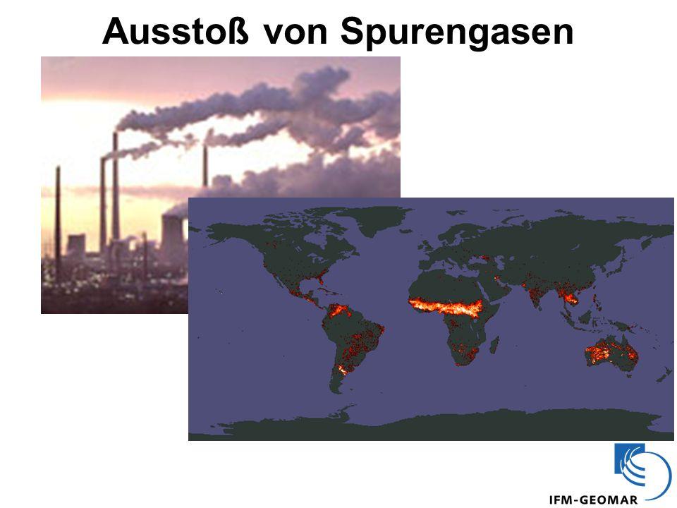 Ausstoß von Spurengasen