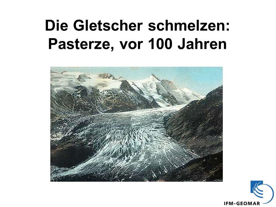 Die Gletscher schmelzen: Pasterze, vor 100 Jahren