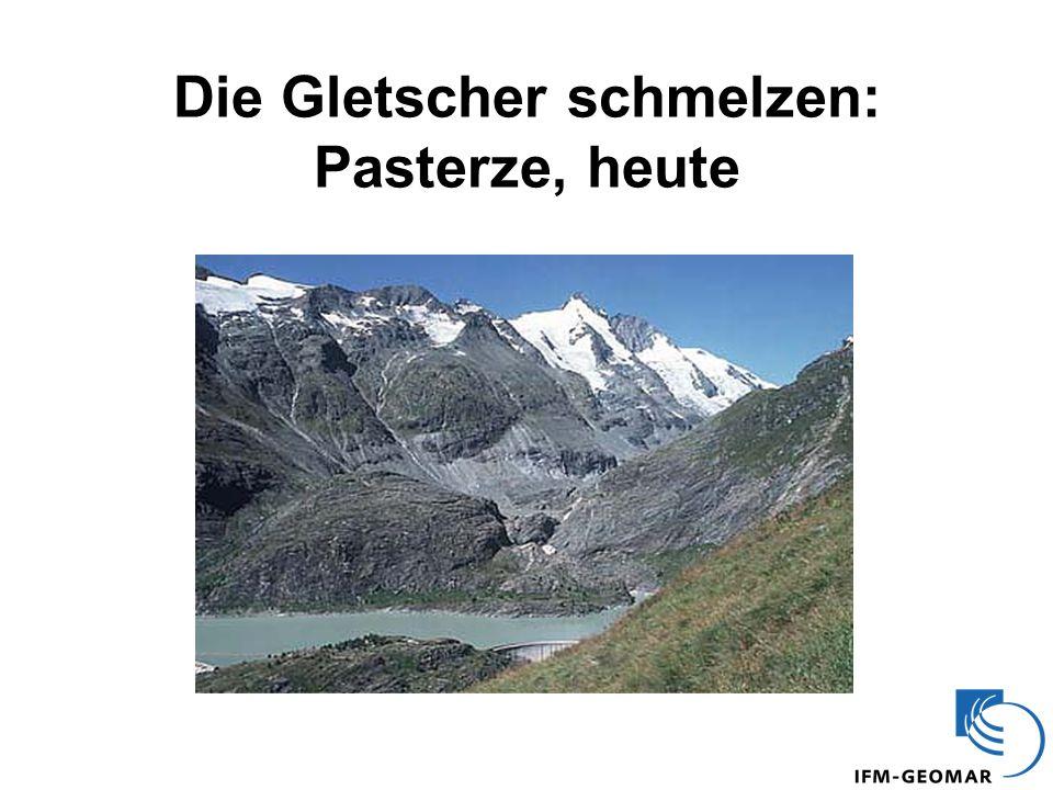 Die Gletscher schmelzen: Pasterze, heute